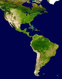 220px-Americas_satellite_map Projeto de pesquisa investiga a origem genética dos habitantes da América
