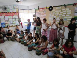 IMG_0216 A origem da música brasileira é o tema do 4º Ano da Exposição Pedagógica